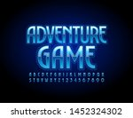 vector glowing sign adventure... | Shutterstock .eps vector #1452324302