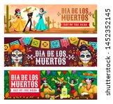 dia de los muertos  mexican day ... | Shutterstock .eps vector #1452352145
