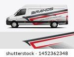 car wrap design vector  truck... | Shutterstock .eps vector #1452362348