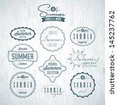 set of summer related vintage... | Shutterstock .eps vector #145237762