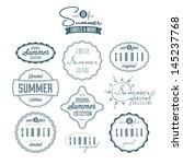 set of summer related vintage... | Shutterstock . vector #145237768