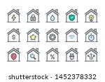 smart house related color line... | Shutterstock .eps vector #1452378332