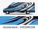 van wrap livery design. ready... | Shutterstock .eps vector #1452383138