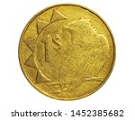 1 Dollar coin, 1993~Today - Circulation serie, Bank of Namibia. Obverse, issued on 1993. Isolated on white