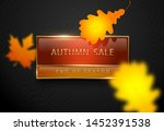 autumn sale vector poster with... | Shutterstock .eps vector #1452391538