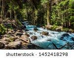 mountain river water landscape. ... | Shutterstock . vector #1452418298