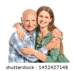 Elderly Man With Daughter On...