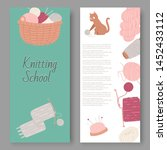 knitting school and arts and... | Shutterstock .eps vector #1452433112