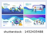 landing pages template set for... | Shutterstock .eps vector #1452435488