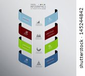 minimal infographics design.... | Shutterstock .eps vector #145244842