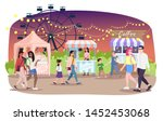 night fair flat vector... | Shutterstock .eps vector #1452453068