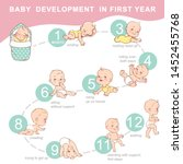 set of child health and... | Shutterstock .eps vector #1452455768