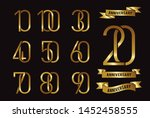 set of anniversary logotype and ... | Shutterstock .eps vector #1452458555
