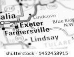 exeter. california. usa on a map | Shutterstock . vector #1452458915