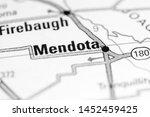 Mendota. California. USA on a map