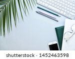 composition with stationery ... | Shutterstock . vector #1452463598