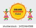 indian grand wedding festival... | Shutterstock .eps vector #1452464588