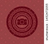 photo camera icon inside red... | Shutterstock .eps vector #1452472055
