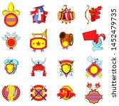 mediaeval icons set. cartoon... | Shutterstock .eps vector #1452479735