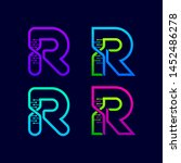 letter r logotype with genetic... | Shutterstock .eps vector #1452486278