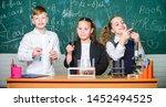 school chemistry lesson. test... | Shutterstock . vector #1452494525