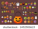 set of colorful halloween... | Shutterstock .eps vector #1452503615