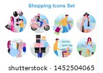 shopping flat concept icons set.... | Shutterstock .eps vector #1452504065