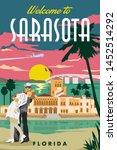 Sarasota Vintage Travel Vector...