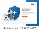 family health protection web...   Shutterstock .eps vector #1452517412