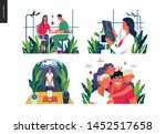 set of medical insurance... | Shutterstock .eps vector #1452517658