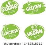 set of vegan badges. gluten ... | Shutterstock .eps vector #1452518312