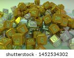 cube or block number and... | Shutterstock . vector #1452534302
