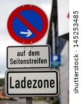 no parking sign in germany | Shutterstock . vector #145253485