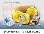 digital currency created by... | Shutterstock .eps vector #1452560252