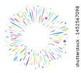 confetti burst cartoon...   Shutterstock .eps vector #1452567098