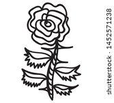 beautiful pattern rose. vector... | Shutterstock .eps vector #1452571238