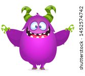 cool halloween monster... | Shutterstock . vector #1452574742