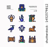 egypt icon set 3. include... | Shutterstock .eps vector #1452579812