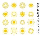 sun icon set  vector...   Shutterstock .eps vector #1452582452