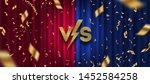 glitter gold versus logo ... | Shutterstock .eps vector #1452584258