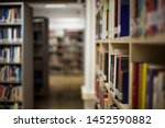 blurred background. library ... | Shutterstock . vector #1452590882
