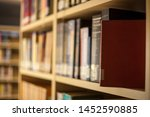 blurred background. library ... | Shutterstock . vector #1452590885