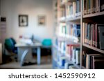 blurred background. library ... | Shutterstock . vector #1452590912