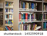blurred background. library ... | Shutterstock . vector #1452590918