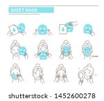 steps how to apply sheet ... | Shutterstock .eps vector #1452600278