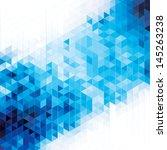 abstract modern geometric blue... | Shutterstock .eps vector #145263238