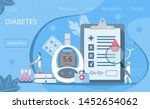 landing page with magnifier and ... | Shutterstock .eps vector #1452654062