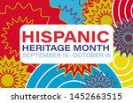 hispanic heritage month...   Shutterstock .eps vector #1452663515