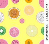 colorful seamless pattern with... | Shutterstock .eps vector #1452664745