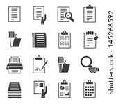 document icons set  business... | Shutterstock .eps vector #145266592